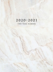 2020-2021 Two Year Planner: Large Monthly Planner with Inspirational Quotes and Marble Cover (Hardcover) Cover Image