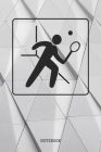 Notebook: Funny Squash Game Sport Racket Planner / Organizer / Lined Notebook (6