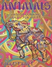 Animal Coloring Books for Adults - Large Print Cover Image