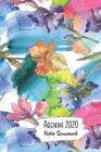 Agenda 2020 Vista Semanal: 12 Meses Programación Semanal Calendario en Español Diseño Floral Cover Image