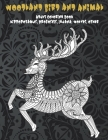 Woodland Bird and Animal - Adult Coloring Book - Hippopotamus, Proboscis, Iguana, Wolves, other Cover Image