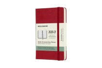 Moleskine 2020-21 Weekly Horizontal Planner, 18M, Pocket, Scarlet Red, Hard Cover (3 x 5.5) Cover Image