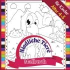 Niedliche Tiere Malbuch für Kinder Alter 4-8: Lustiges Ausmalbuch zum Ausmalen von Bauernhof- und Wildtieren, 72 Seiten, Paperback 8,5*8,5 Zoll Cover Image