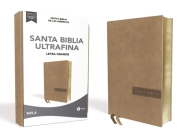 Biblia Nbla, Ultrafina, Letra Grande, Tamaño Manual, Leathersoft, Beige, Edición Letra Roja / Spanish Ultrathin Holy Bible, Nbla, Lg Print, Handy Size Cover Image