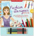 Fashion Designer Sketch Pad [With 4 Colored Pencils] (Young Artist (Peter Pauper Press)) Cover Image