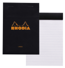 Rhodia Classic Lined 4 X 6 Black Cover Notepad Cover Image