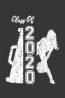 Class of 2020: Cheerleader & Megaphone Blank Notebook Graduation 2020 & Senior Gift Cover Image