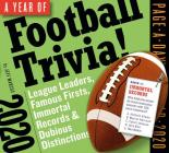 A Year of Football Trivia! Page-A-Day Calendar 2020: League Leaders, Famous Firsts, Immortal Records & Dubious Distinctions Cover Image
