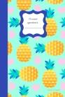 Ananas & coeurs: Carnet Petit format aux motifs Ananas avec 40 pages blanches pour le dessin, le croquis et la prise de note libre Cover Image