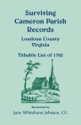 Surviving Cameron Parish Records, Loudoun County, Virginia - Tithable List of 1765 Cover Image