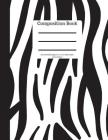 Composition Book 100 Sheet/200 Pages 8.5 X 11 In.-Wide Ruled- Zebra Pattern Cover Image