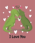 Hold My Hand, I Love You: T. Rex Dinosaurs Ruled Composition Notebook Cover Image