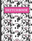 Sketchbook: Cute Cow Sketchbook for Girls to Practice Sketching and Drawing Cover Image
