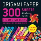 Origami Paper 300 Sheets Tie-Dye Patterns 4