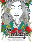 Fashion Vintage Coloring Book for Adult: Vintage Floral Dresses, and Relaxing Flower Patterns Cover Image
