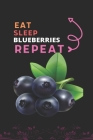 Eat Sleep Blueberries Repeat: Best Gift for Blueberries Lovers, 6 x 9 in, 100 pages book for Girl, boys, kids, school, students Cover Image