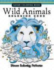 Wild Animals Coloring Books: A Safari Coloring books for Adutls Cover Image