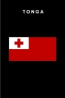 Tonga: Country Flag A5 Notebook to write in with 120 pages Cover Image