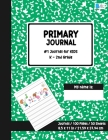 Primary Story Journal: Dotted Midline and Picture Space Green Marble Design Grades K-2 School Exercise Book Draw and Write Note book 100 Stor Cover Image
