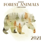2021 Watercolor Forest Animals: 12 Month Wall Calendar Full Year with Holidays Cover Image