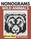 Nonograms, Wild Animals: Nonogram Puzzle Book, Griddlers logic Puzzles Black and White: Hanjie, Picross, Picture Cross - Unique Solutions Nonog Cover Image