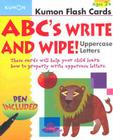 ABC's Write and Wipe!: Uppercase Letters [With Pen] (Kumon Flash Cards) Cover Image