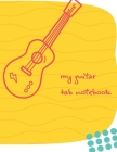 Guitar Tablature Manuscript Paper: Pages for Lyrics and Music (Guitar version): Notebook for composition and songwriting, 8.5
