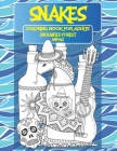Coloring Book for Adults Enchanted Forest - Animals - Snakes Cover Image