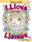 I Llove Llamas Coloring Book Cover Image