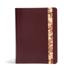 CSB Spurgeon Study Bible, Burgundy/Marble LeatherTouch®: Study Notes, Quotes, Sermons Outlines, Easy-to-Read Font Cover Image