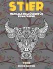 Mandala Malbücher für Erwachsene - Dicke Seiten - Tiere - Stier Cover Image