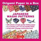 Origami Paper in a Box - Japanese Washi Patterns: 200 Sheets of Tuttle Origami Paper: 6x6 Inch High-Quality Origami Paper Printed with 12 Different Pa Cover Image