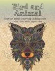 Bird and Animal - Cute and Stress Relieving Coloring Book - Bison, Otter, Mouse, Jaguar, other Cover Image