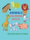 animals coloring book for kids ages 4-9 years: Coloring Book, Exclusive Work - 25 Illustrations For Kids / 50 Pages, 8.5×11, Soft Cover, Matte Finish Cover Image