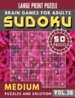 Sudoku Medium: suduko lover - Medium sudoku books Puzzles and Solutions Large Print Perfect for Seniors (Sudoku Brain Games Puzzles B Cover Image