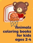 Animals coloring books for kids ages 2-4: Coloring pages, Chrismas Coloring Book for adults relaxation to Relief Stress (Baby Genius #6) Cover Image
