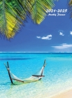 2021-2025 Monthly Planner Hardcover: Large Five Year Planner (Tropical Beach) Cover Image