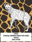 Mandala Coloring Books for Adults Thick paper - Animal - Hyena Cover Image