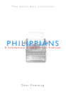 Philippians: A Commentary in the Wesleyan Tradition (New Beacon Bible Commentary) Cover Image
