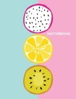 Notebook: Lined Notebook Journal - Stylish Fruits - 120 Pages - Large 8.5 x 11 inches - Composition Book Paper - Minimalist Desi Cover Image