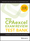 Wiley's CPA Jan 2022 Test Bank: Financial Accounting and Reporting (1-Year Access) Cover Image