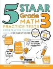 5 STAAR Grade 3 Math Practice Tests: Extra Practice to Help Achieve an Excellent Score Cover Image
