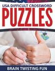 USA Difficult Crossword Puzzles: Brain Twisting Fun Cover Image