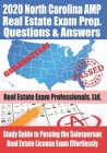 2020 North Carolina AMP Real Estate Exam Prep Questions and Answers: Study Guide to Passing the Salesperson Real Estate License Exam Effortlessly Cover Image