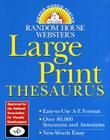 Random House Webster's Large Print Thesaurus Cover Image