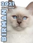 Birman 2021 Cat Calendar Cover Image