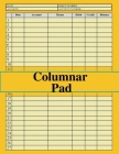 Columnar Pad: accounting notebook with columns, sized:8.5x11,120 pages,6 columns and 27 ligne Cover Image