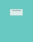 Composition Notebook: Wide Ruled Lined Paper: Large Size 8.5x11 Inches, 110 pages. Notebook Journal: Aqua Lines Book Workbook for Preschoole Cover Image