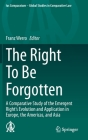 The Right to Be Forgotten: A Comparative Study of the Emergent Right's Evolution and Application in Europe, the Americas, and Asia (Ius Comparatum - Global Studies in Comparative Law #40) Cover Image