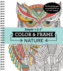 Color & Frame - Nature (Adult Coloring Book) Cover Image